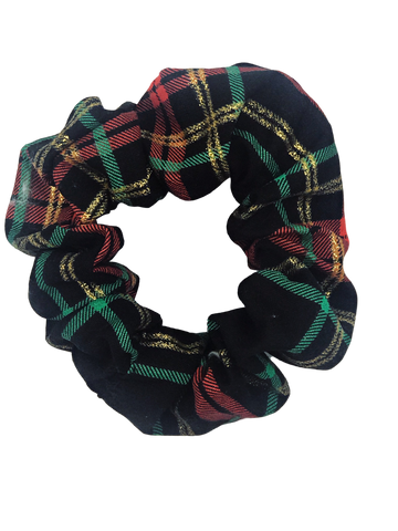 Manchester Holiday Plaid Hair Scrunchie