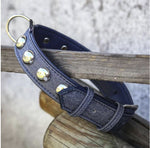 Classic Blue Jean Leash - Italian Vegan Leather