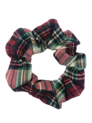 Whitby Holiday Plaid Hair Scrunchie