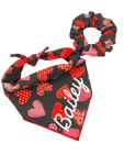 Big Hearts of Love Hair Scrunchie