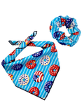 Patriotic Donuts Bandana & Scrunchie Set