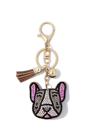 French Bulldog Crystal Bling Key Chain