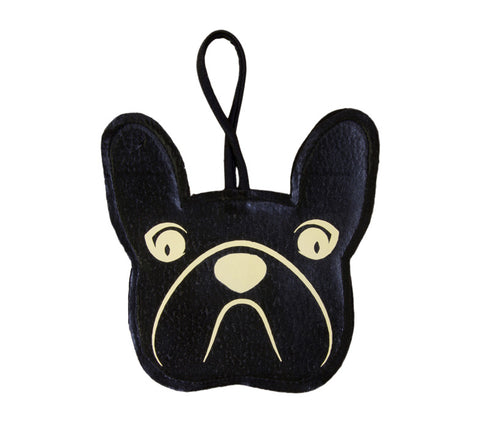 Italian Vegan Leather French Bulldog Waste Bag Holder