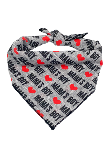 Mama's Boy (gray background) Bandana