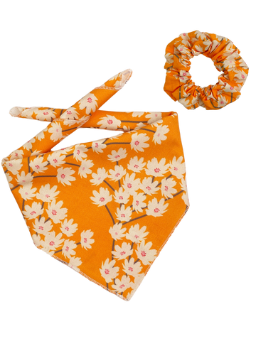 Mustard Blossoms Bandana & Scrunchie Set