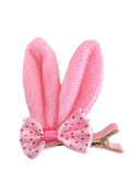 Pink Bunny Bow Clip
