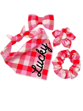 Pretty in Pink Plaid Bow Tie