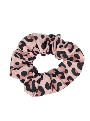 Blush Pink Leopard Hair Scrunchie