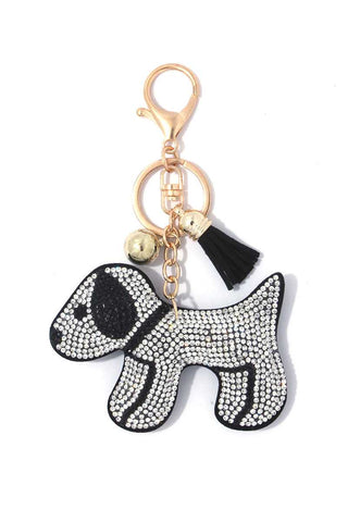 Puppy Crystal Bling Key Chain