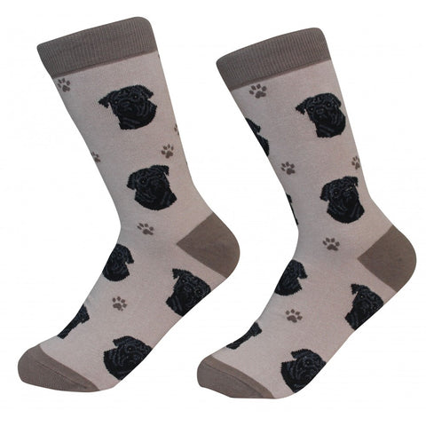 Pug (Black) Socks