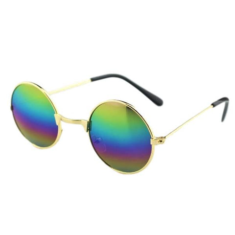 Rainbow Reflective Lense Sunglasses with Head Strap