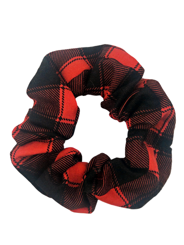 Holiday Buffalo Red Hair Scrunchie