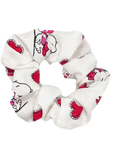 White Snoopy Hair Scrunchie