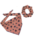 Patriotic Stars & Stripes Bandana & Scrunchie Set