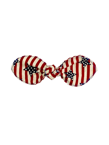 Patriotic Stars & Stripes Hair Bow