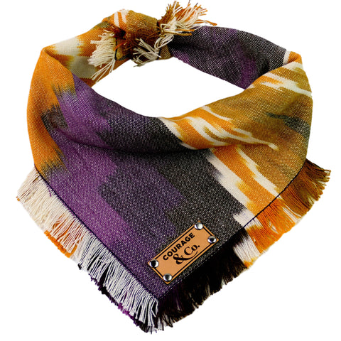 Courage and Co Fall Woven and Frayed Bandana