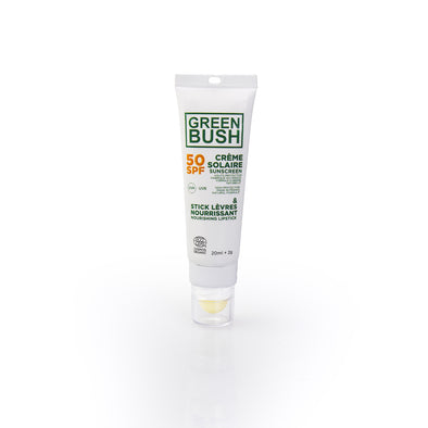 greenbush combo: sunscreen spf50 + lipbalm