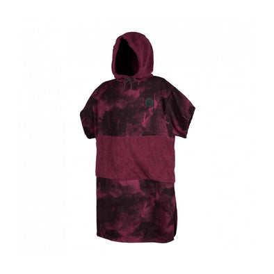 Poncho Allover - Oxblood Red