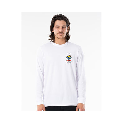 Search Essential L/S Tee White