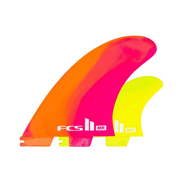 FCS II MR PC XLarge 2+1 fin set Neon Swirl Ltd