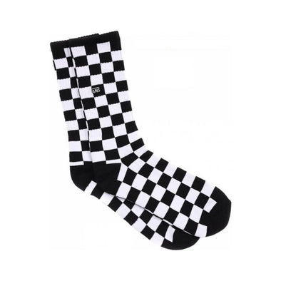 Mn Checkerboard Crew Ii (9.5-13, 1Pk) Black/White Check