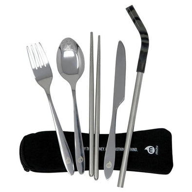 MIZU CUTLERY SET w STRAW