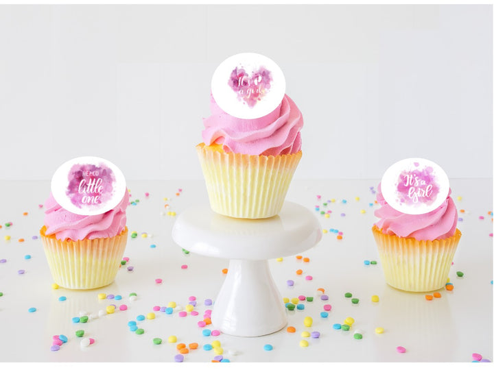 It's a Girl  Edible Cupcake Images