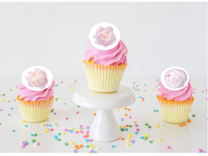 Peony Edible Cupcake Images