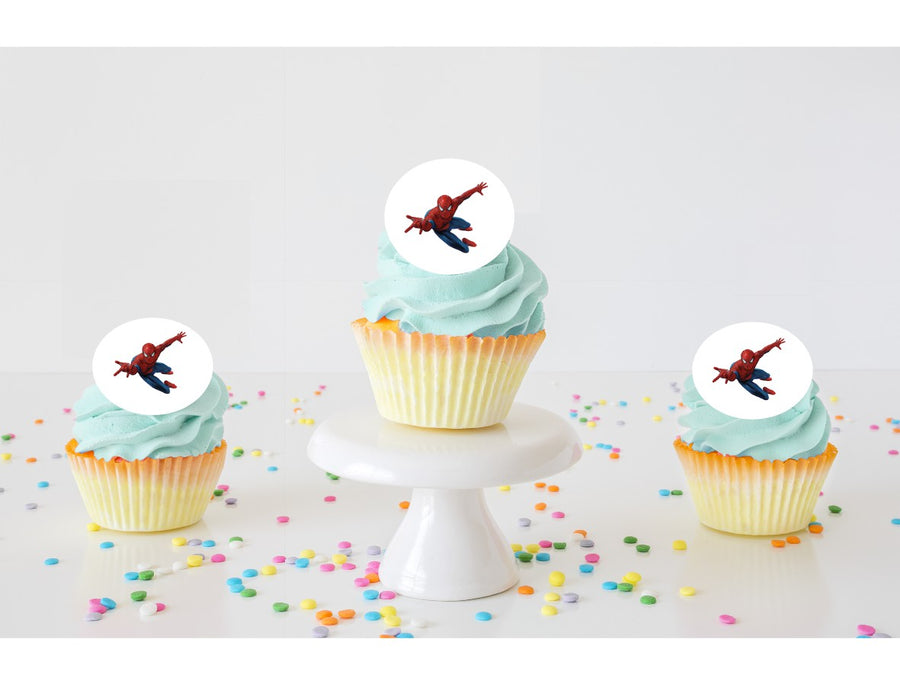 Spiderman Edible Cupcake Images