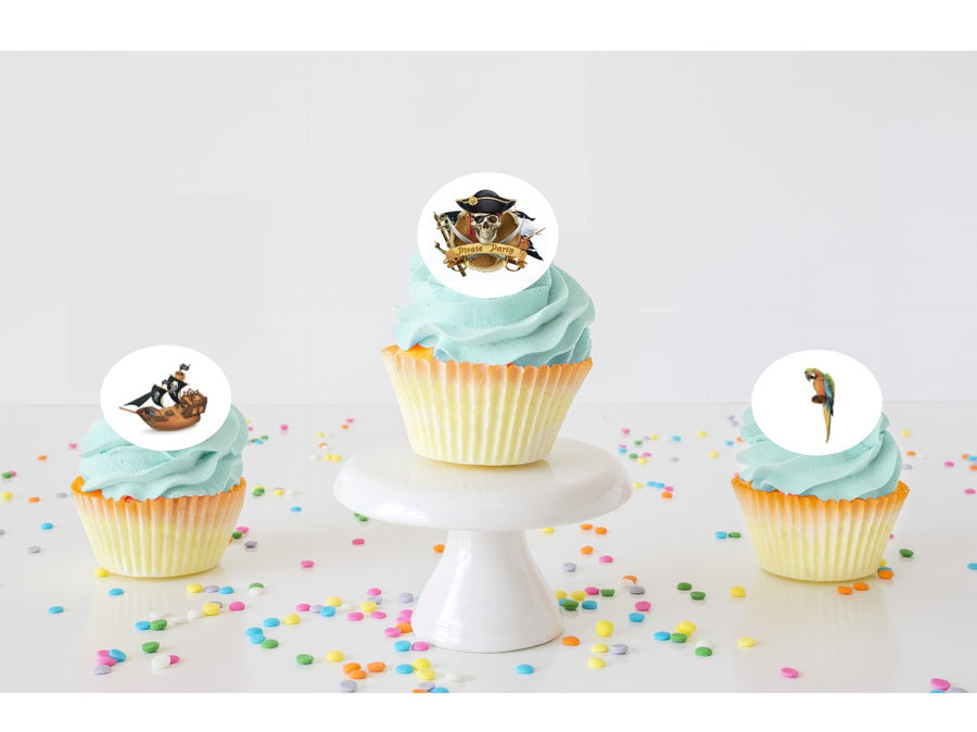 Pirate Edible Cupcake Images