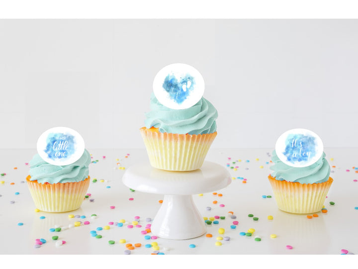 It's a Boy Edible Cupcake Images