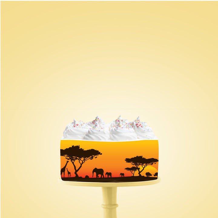 Safari Edible Icing Image