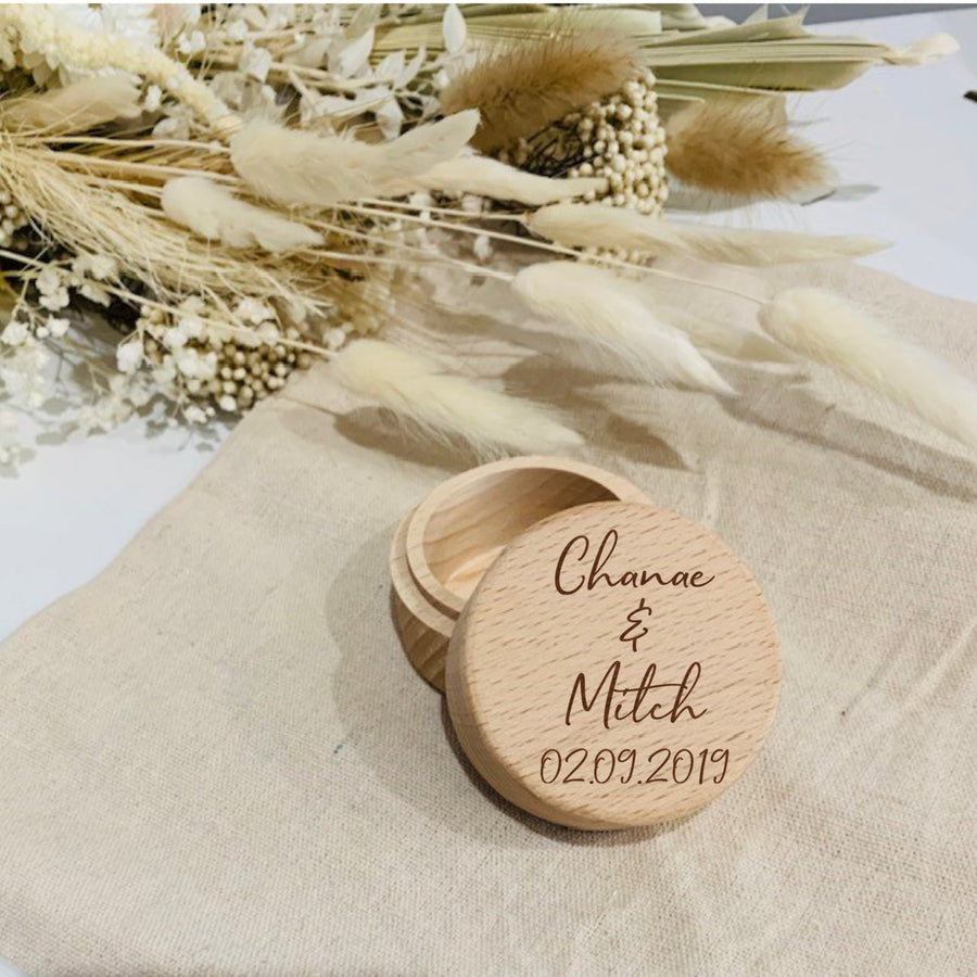 Personalised Ring Box - Aston Blue