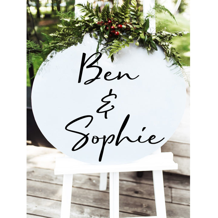 Personalised Wedding Sign - Aston Blue
