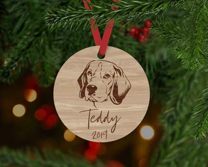 Beagle Dog Ornament - Aston Blue