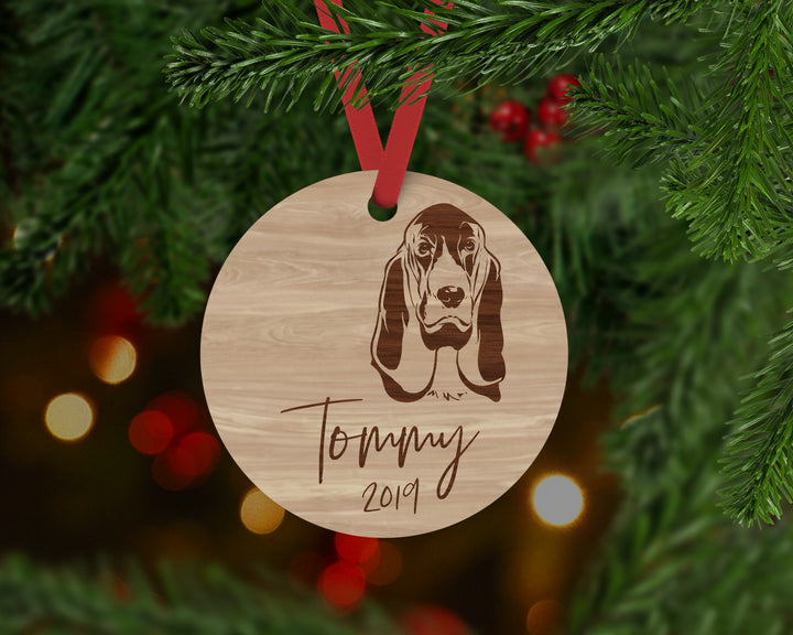 Bloodhound Dog Ornament - Aston Blue