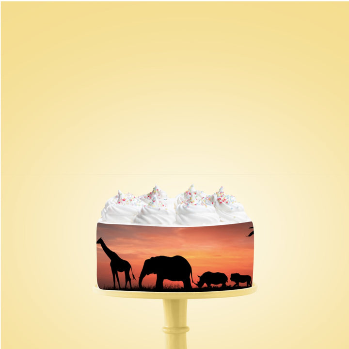 African Sunset Edible Icing Image