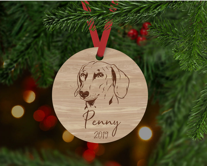 Dachshund Dog Ornament - Aston Blue
