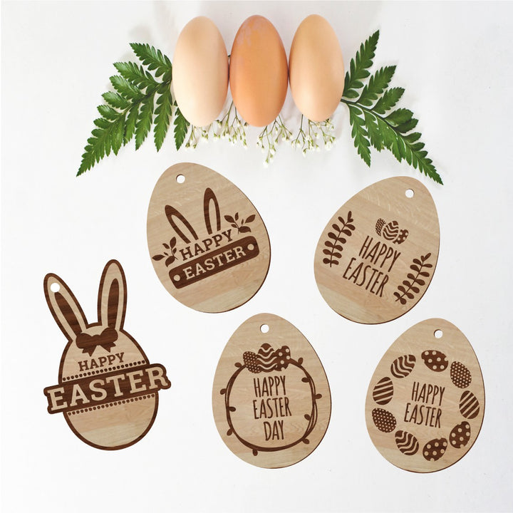 5 x Easter Gift Tags - Aston Blue