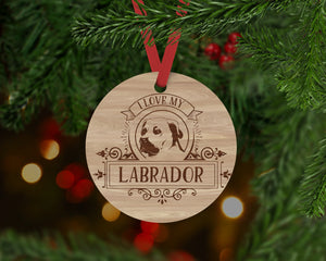 Labador Dog Ornament - Aston Blue