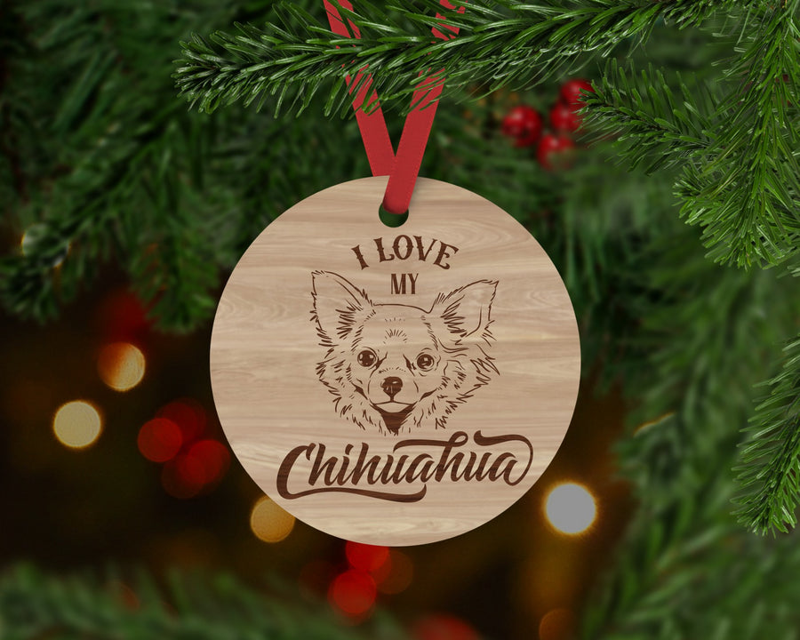 Chihuahua Dog Ornament - Aston Blue