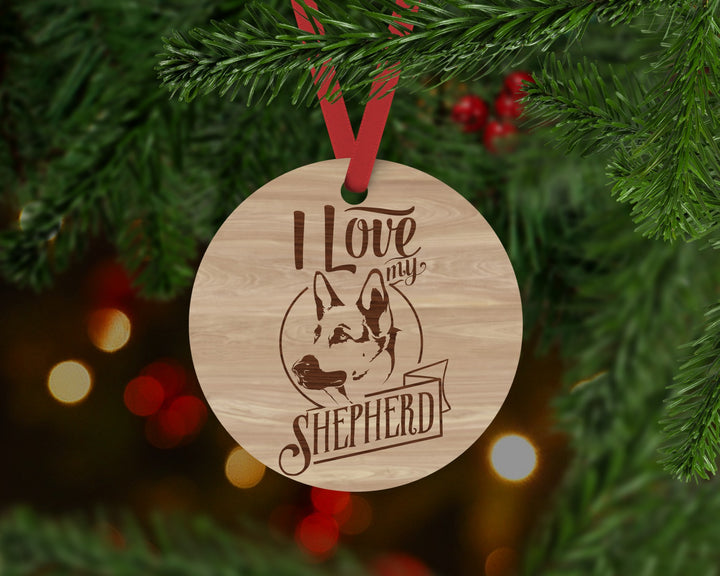 German Shepherd Dog Ornament - Aston Blue