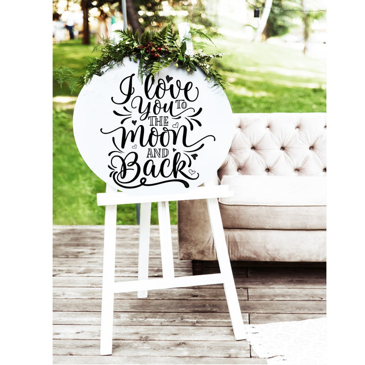 I Love You To The Moon and Back Sign - Aston Blue