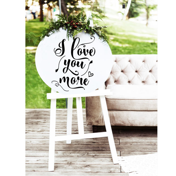 I Love You More Wedding Sign - Aston Blue