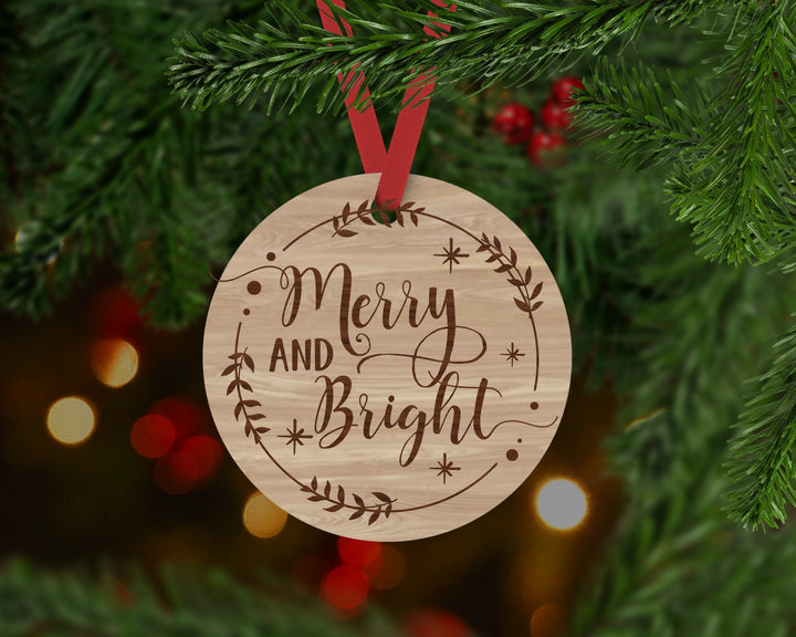 Merry and Bright Ornament - Aston Blue