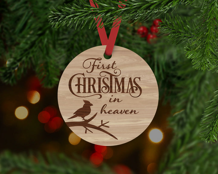 First Christmas in Heaven Ornament - Aston Blue