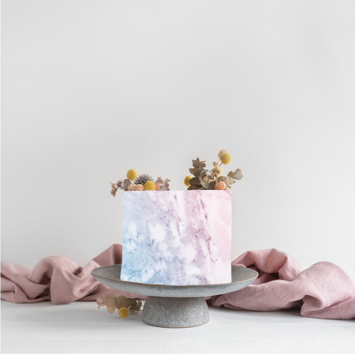 Pink Marble Edible Icing Image