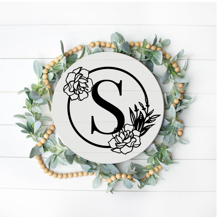 Wreath Monogram Pallet Sign