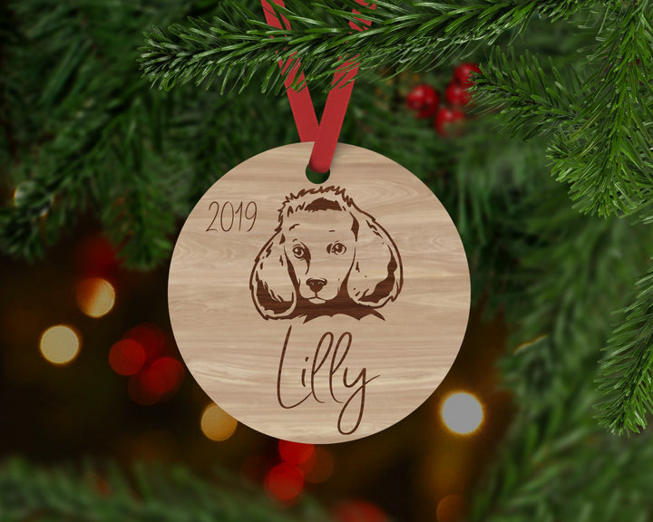 Poodle Dog Ornament - Aston Blue