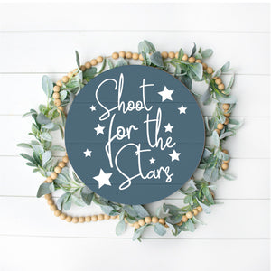 Shoot for the stars Pallet Sign